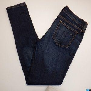 "Madewell  8"" Skinny 32x28 Dark Wash Jeans Womens"
